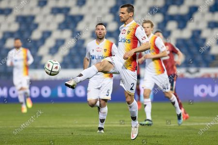 Stock Picture of Christian Maggio of US Lecce  in action during the Serie B match between AC Reggiana and US Lecce at Mapei Stadium - Citt del Tricolore on March 7, 2021 in Reggio Emilia, Italy.
