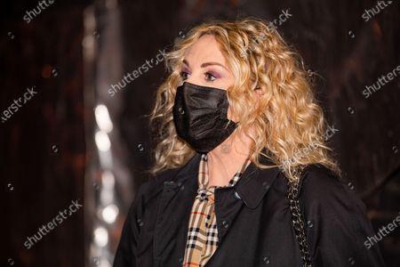 Stock Image of Antonella Clerici attends Che Tempo Che Fa Tv Show on March 07, 2021 in Milan, Italy.
