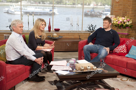 Phillip Schofield and Holly Willoughby with Nick Bond