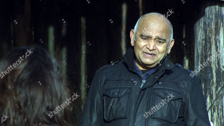 Emmerdale - Ep 8991 Thursday 11th March 2021 - 1st Ep Manpreet Sharma is caught off guard when Rishi Sharma, as played by Bhasker Patel, suggests renewing their vows.