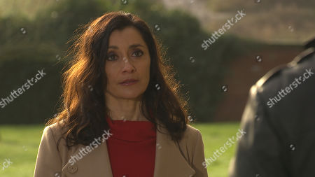 Emmerdale - Ep 8991 Thursday 11th March 2021 - 1st Ep Manpreet Sharma, as played by Rebecca Sarker, is caught off guard when Rishi Sharma, as played by Bhasker Patel, suggests renewing their vows.