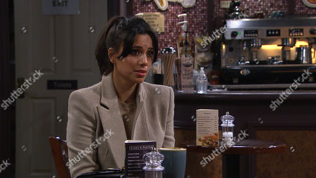 Emmerdale - Ep 8988 Monday 8th March 2021 Ellis Grant questions Priya Sharma's, as played by Fiona Wade, motives and tells Priya it wouldn't work between them.