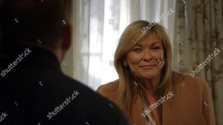 Emmerdale - Ep 9000 Monday 22nd March 2021 When Kim Tate, as played by Claire King, wants to investigate the noise in the cellar, a flailing Will Taylor, as played by Dean Andrews, deflects by suggesting they head upstairs. Kim's excited, while Will steals himself.
