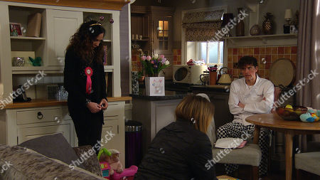 Emmerdale - Ep 8998 Thursday 18th March 2021 - 2nd Ep Charity Dingle, as played by Emma Atkins, finalises the sale of her share of the pub to Marlon Dingle, as played by Mark Charnock, - putting on a brave face. Soon she is summoned to sign the paperwork, Chas Dingle, as played by Lucy Pargeter, is relieved but Charity can't hide her sadness.