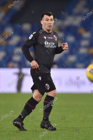 Stock Picture of Gary Medel of Bologna FC during the Serie A match between SSC Napoli and Bologna FC Calcio at Stadio Diego Armando Maradona Naples Italy on 7 March 2021.