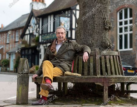 Nigel Farage, photographed near his home in the village of Downe, Kent.
