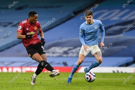 Anthony Martial of Manchester United has a shot at goal
