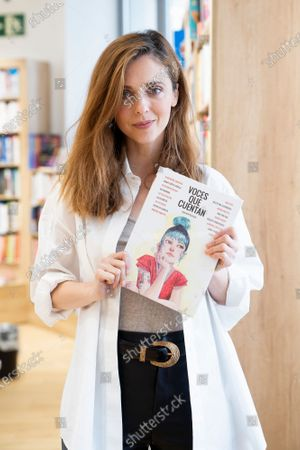 Actress Leticia Dolera during the presentation of the book 'Voices telling'