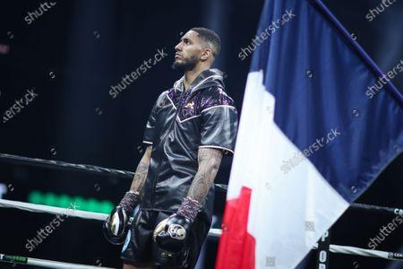 French boxer Tony Yoka before his fight against Belgian boxer Joel Tambwe Djeko for the european union heavyweight title in H Arena in Nantes
