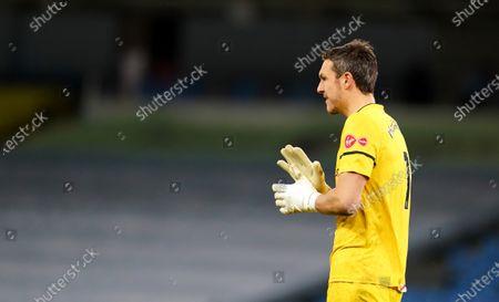 Goalkeeper Alex McCarthy of Southampton looks dejected