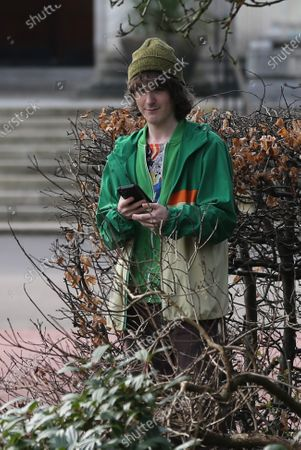 Brenock O'Connor who plays Tom Harris, during filming of the second series of the Amazon Prime series Alex Rider in Cardiff