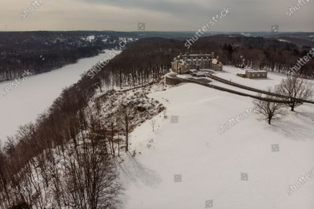 The Seven Springs, a property owned by former U.S. President Donald Trump, is covered in snow, in Mount Kisco, N.Y. The estate, a 213-acre swath of nature surrounding a Georgian-style mansion, is a subject of two state investigations in New York: a criminal probe by Manhattan District Attorney Cyrus Vance Jr. and a civil inquiry by state Attorney General Letitia James. Both investigations focus on whether Trump manipulated the property's value to reap greater tax benefits from an environmental conservation arrangement he made while running for president in 2016