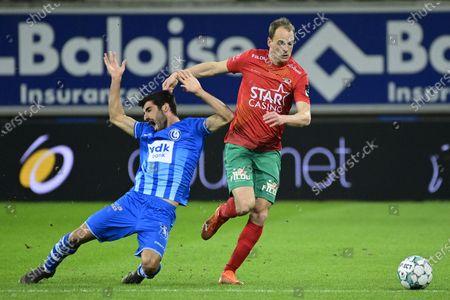 Editorial photo of Soccer Jpl D29 Kaa Gent Vs Kv Oostende, Gent, Belgium - 08 Mar 2021