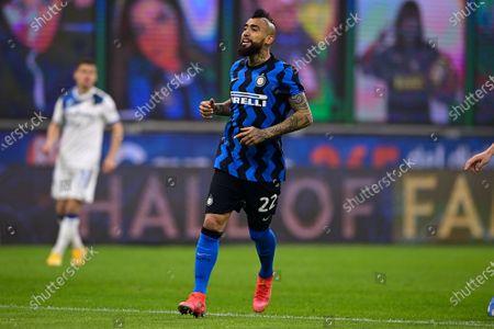 Stock Image of Arturo Vidal of FC Internazionale