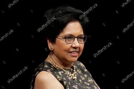 Former PepsiCo CEO Indra Nooyi participates in an event in New York. Nooyi, along with former first lady Michelle Obama and soccer star Mia Hamm, are among a group of women named to the 2021 class for the National Women's Hall of Fame, announced Monday, March 8, 2021. Other women named include retired Brig. Gen. Rebecca Halstead, who was the first female commanding general at the strategic level during combat in Iraq
