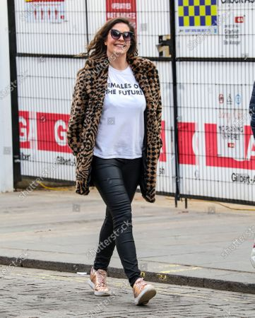 Lucy Horobin seen arriving for her Heart FM show at the Global Radio Studios
