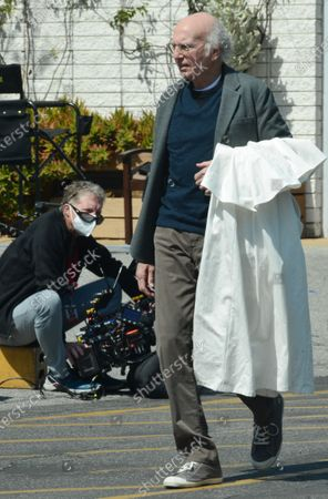 Larry David on the set of 'Curb Your Enthusiasm'