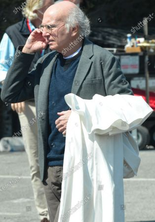 Stock Picture of Larry David on the set of 'Curb Your Enthusiasm'
