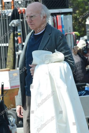 Stock Photo of Larry David on the set of 'Curb Your Enthusiasm'
