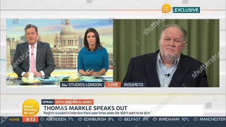 Piers Morgan, Susanna Reid, Thomas Markle