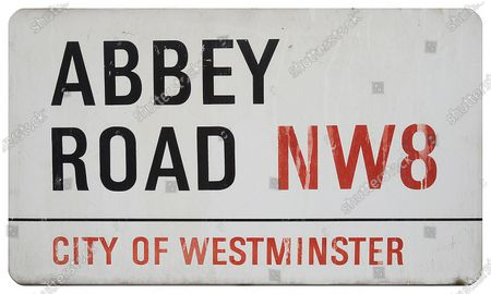 Editorial image of Abbey Road street sign has sold to a Beatles fan for £37,200 at auction, Catherine Southon, UK - 17 Jan 2021