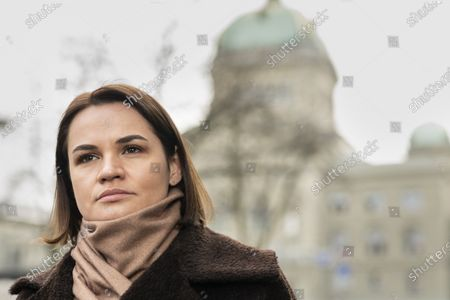Editorial image of Svetlana Tikhanovskaya visits Bern, Switzerland - 09 Mar 2021