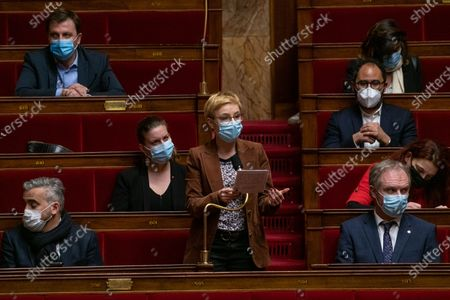 Clementine Autain during the weekly session of questions to the government at the French National Assembly.