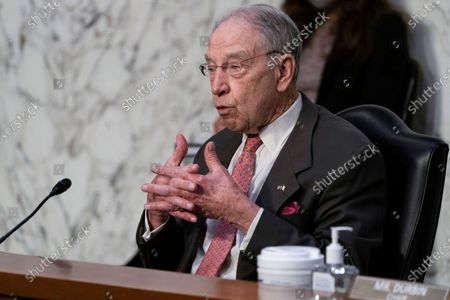 Senate Judiciary Committee ranking member Chuck Grassley, of Iowa, speaks during hearing for Vanita Gupta, nominated to be Associate Attorney General, and Lisa Monaco nominated to be Deputy Attorney General, on Capitol Hill, in Washington