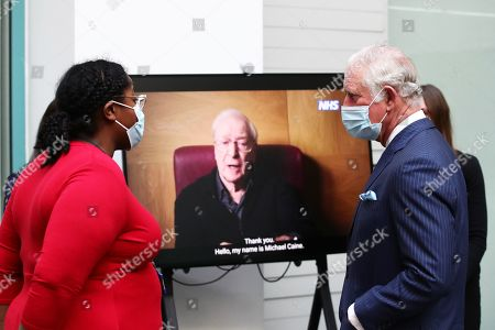 Editorial image of Prince Charles and Camilla Duchess of Cornwall visit NHS vaccine operations, London, UK - 09 Mar 2021