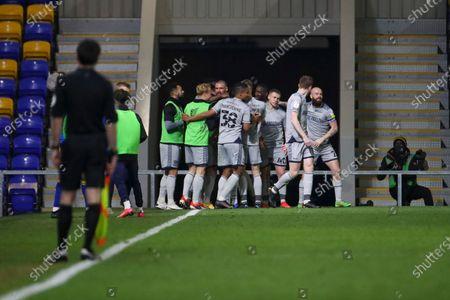 GOAL 0-1, Burton Albion defender Michael Bostwick (5) during the EFL Sky Bet League 1 match between AFC Wimbledon and Burton Albion at Plough Lane, London