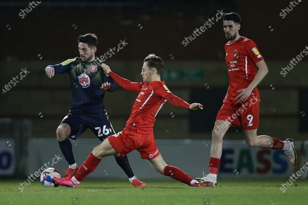 Tom Pett of Stevenage and Dan Kemp of Leyton Orient during Leyton Orient vs Stevenage, Sky Bet EFL League 2 Football at The Breyer Group Stadium on 9th March 2021