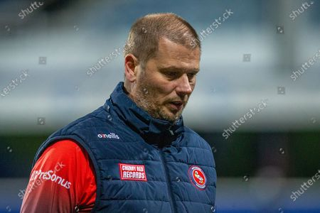 Wycombe Wanderers assistant manager Richard Dobson during the EFL Sky Bet Championship match between Queens Park Rangers and Wycombe Wanderers at the Kiyan Prince Foundation Stadium, London