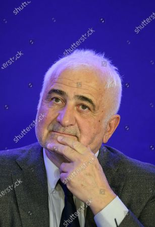 Stock Picture of Guy Savoy during a convention on agriculture and food