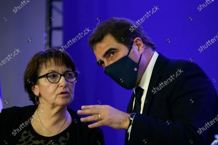 Christiane Lambert, Guy Savoy during a convention on agriculture and food