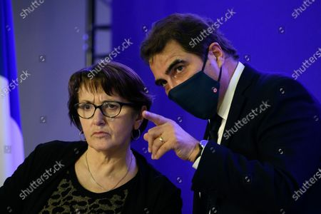 Christiane Lambert, Christian Jacob during a convention on agriculture and food