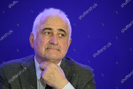 Stock Photo of Guy Savoy during a convention on agriculture and food