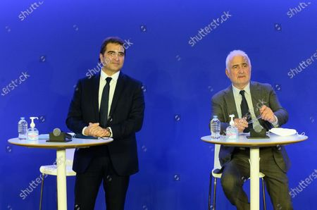 Stock Image of Christian Jacob, Guy Savoy during a convention on agriculture and food