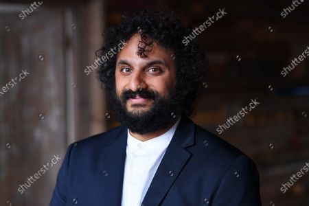 British entertainer Nish Kumar on set in London, filming a specially commissioned programme to accompany this year's Sony World Photography Awards 2021 virtual exhibition. The film introduces the big winners from around the world, the film and exhibition will be available to view from 15 April 2021 at worldphoto.org.