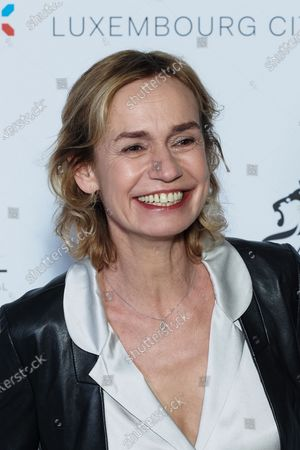 Stock Picture of Sandrine Bonnaire attends the 11th Luxembourg city film festival jury photocall at Hotel Du Louvre