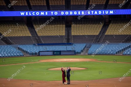 Editorial photo of GOV. Gavin Newsom delivers his third State of the State address at Dodger Stadium, Dodger Stadium, Los Angeles, California, United States - 09 Mar 2021