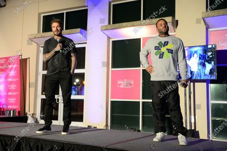 David Beckham and David Grutman attend the David Grutman Experience 'The Class' held at the Kovens Conference Center at Florida International University Biscayne Bay Campus