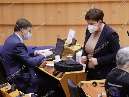 Editorial photo of EU Parliament plenary session, Brussels, Belgium - 10 Mar 2021
