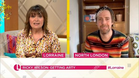 Lorraine Kelly and Ricky Wilson