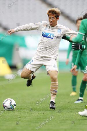Koki Kido (Montedio) - Football / Soccer : 2021 J2 League match between Tokyo Verdy 0-2 Montedio Yamagata at Ajinomoto Stadium in Tokyo, Japan.