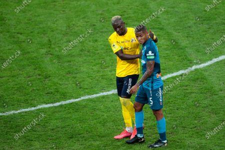 forward Ali Sowe of FC Rostov and midfielder Wilmar Barrios of FC Zenit