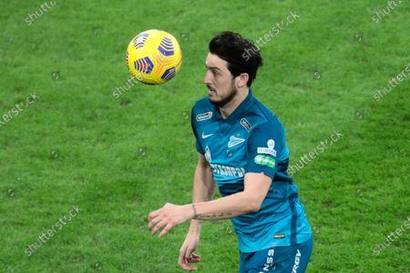 forward Sardar Azmoun of FC Zenit in action