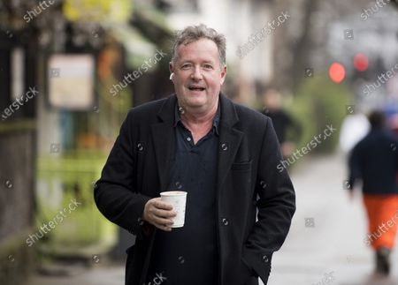 Former Good Mooring Britain host Piers Morgan returns to his London home the morning after resigning over comments he made about The Duchess of Sussex, Meghan Markle.