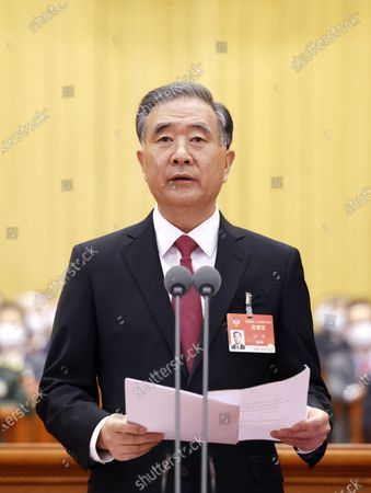 The closing meeting of the fourth session of the 13th National Committee of the Chinese People's Political Consultative Conference (CPPCC) is held at the Great Hall of the People in Beijing, capital of China, March 10, 2021. Wang Yang presided over the closing meeting and delivered a speech.