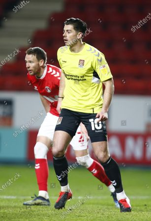 Stock Image of Northampton Town's Alex Jones during Sky Bet League One between Charlton Athletic  and Northampton Town at The Valley,  Woolwich on 9th March 2021