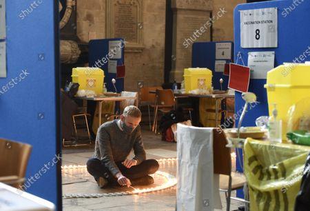 Editorial image of Candle display at Salisbury Cathedral, UK - 09 Mar 2021